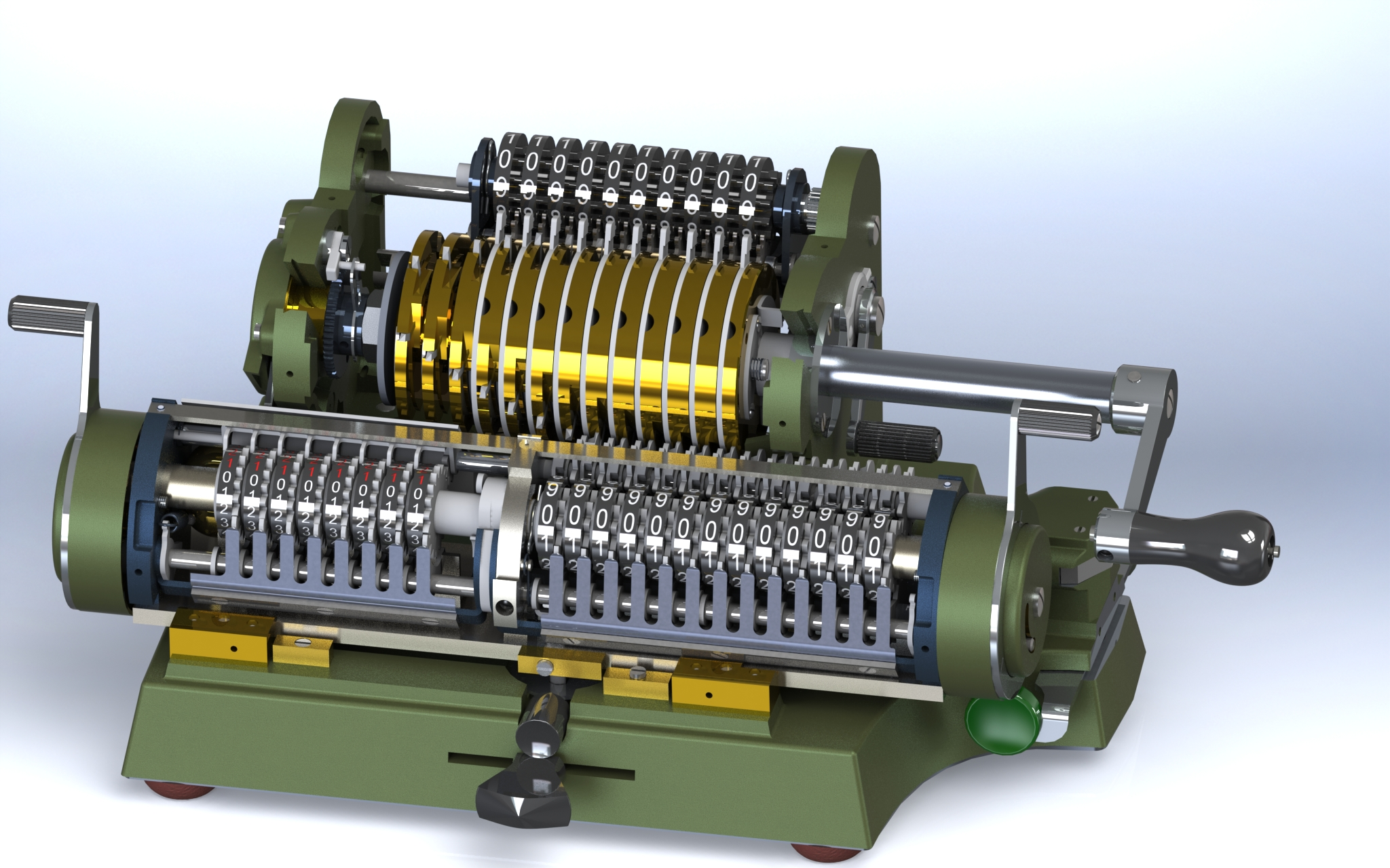Antares p6意大利机械式计算器3D模型图纸 Solidworks设计 附STEP
