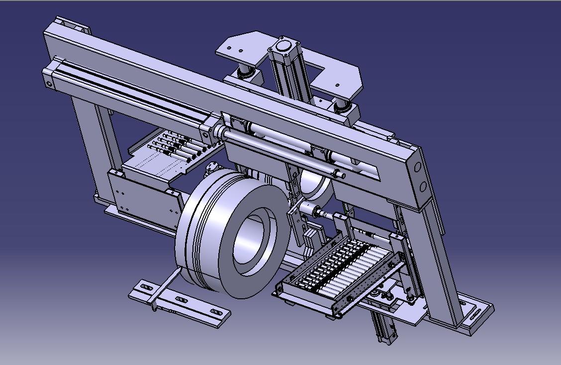 全自动进出料无心磨床3D模型图纸 STP格式
