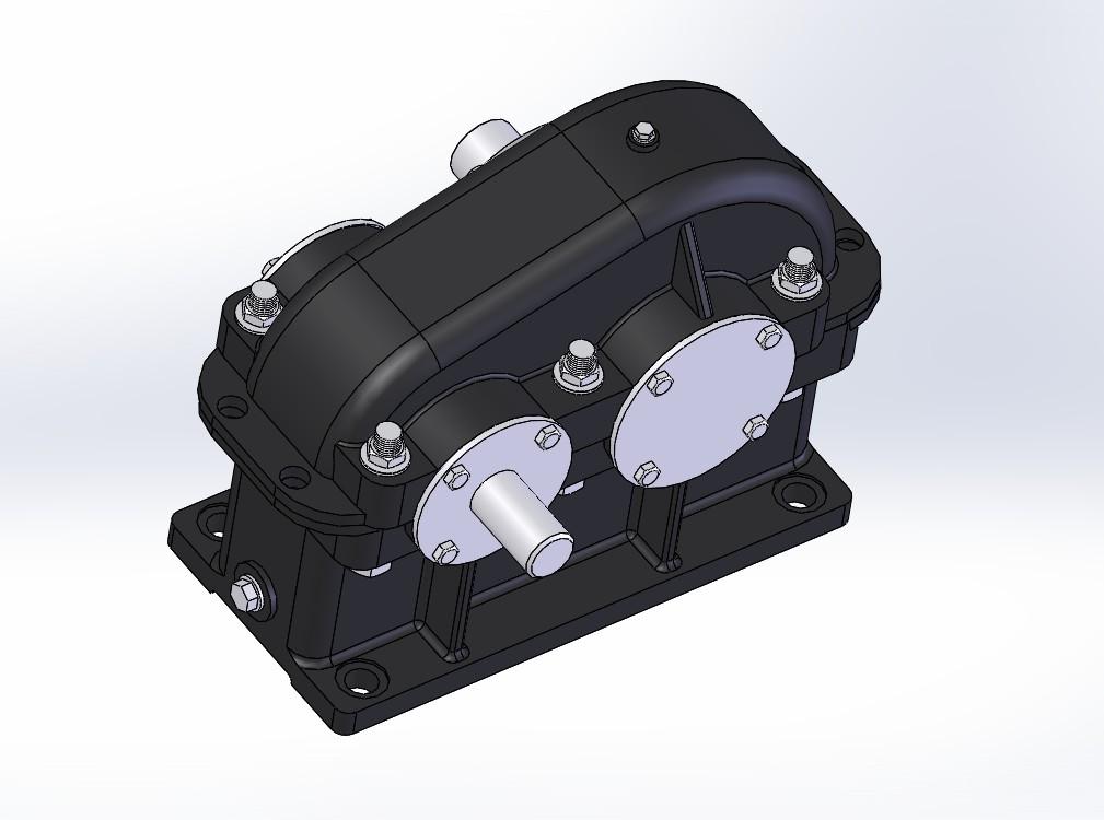 普通简单变速箱3D模型图纸 Solidworks设计