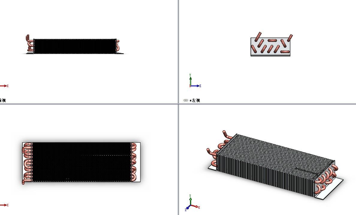 换热器3D模型图纸 Solidworks设计