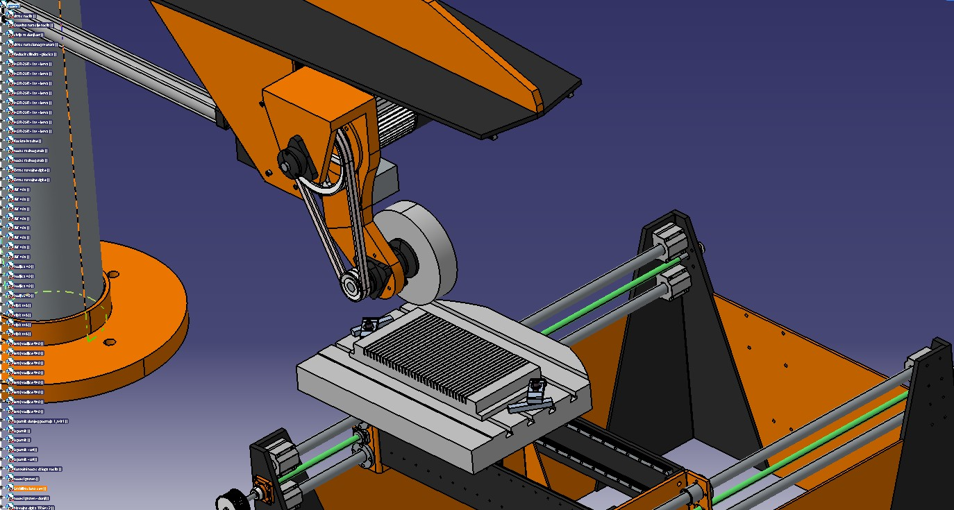 5轴CNC磨床3D模型图纸 STP格式