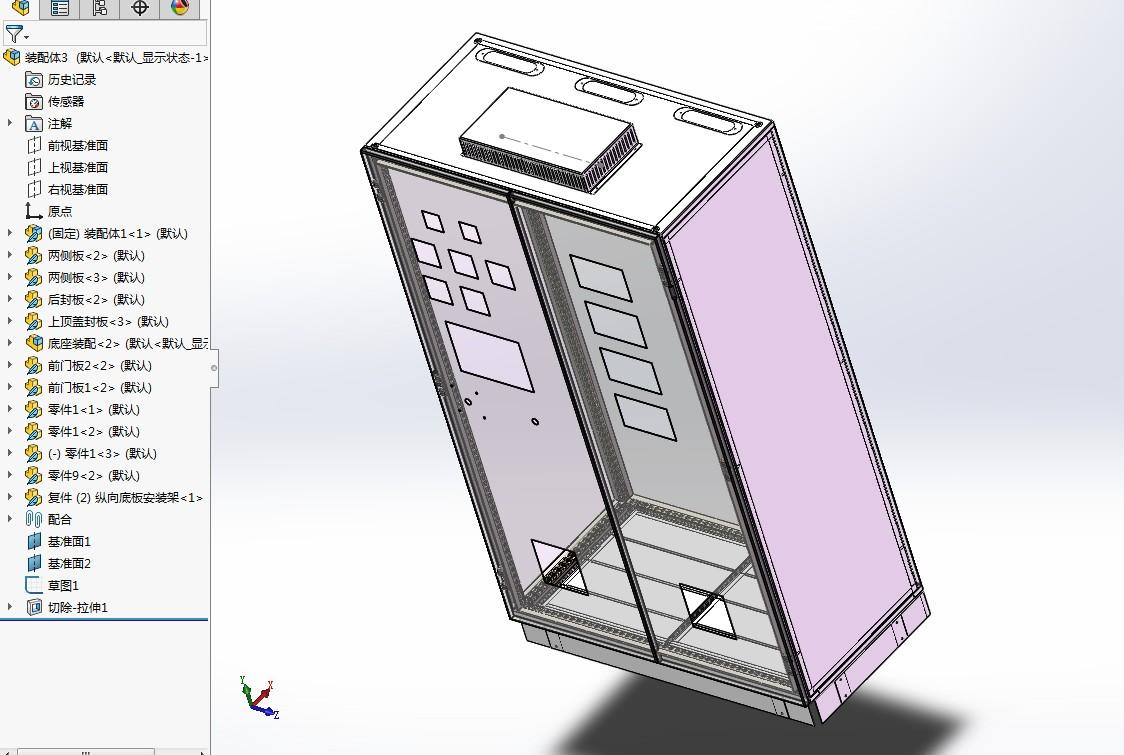 仿威图机柜3D模型图纸 Solidworks设计