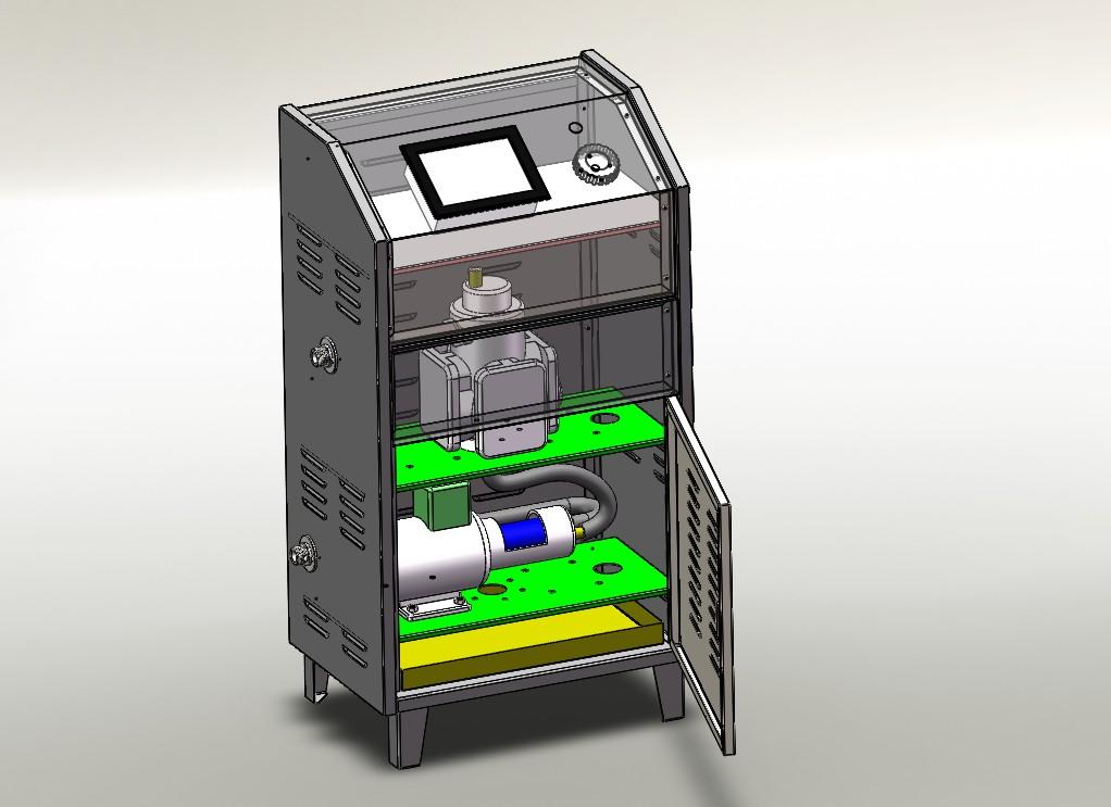 小型工业机柜3D模型图纸 Solidworks设计
