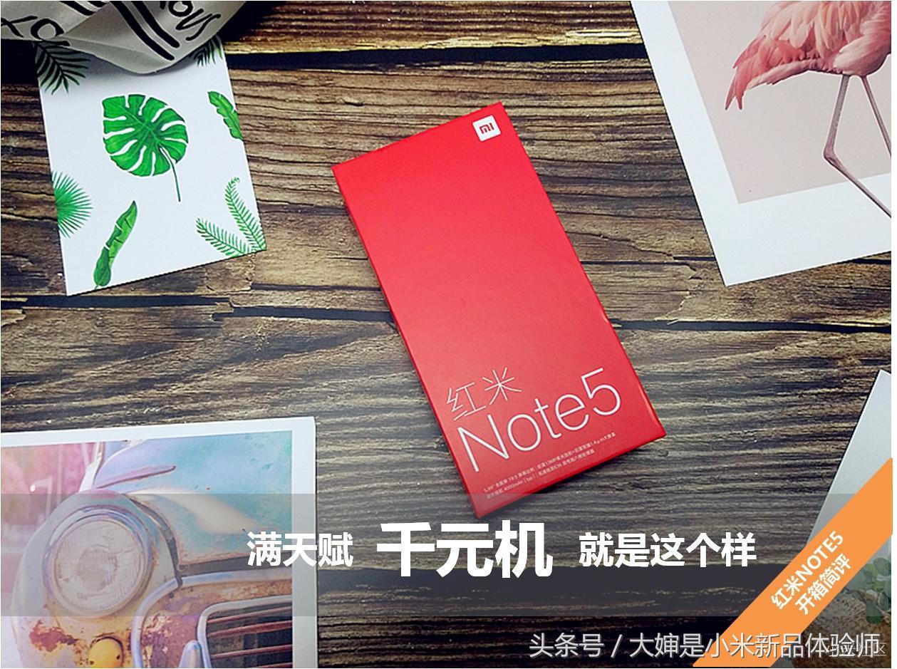 满天赋的千元机就是这个样-红米Note 5开箱