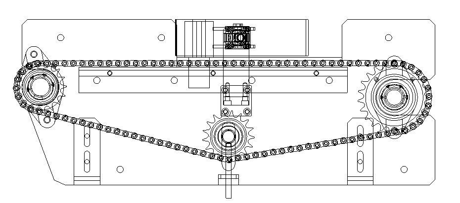 链式输送机机构3D模型图纸 Solidworks设计