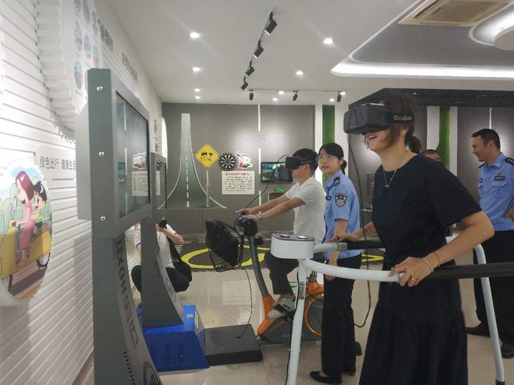 真实撞击体验 金华市首个交通安防体验馆在浦江启用