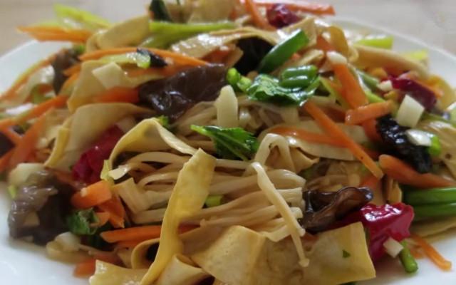 凉拌金针菇豆腐皮做法步骤图  自带清凉感的夏日小凉菜 好吃