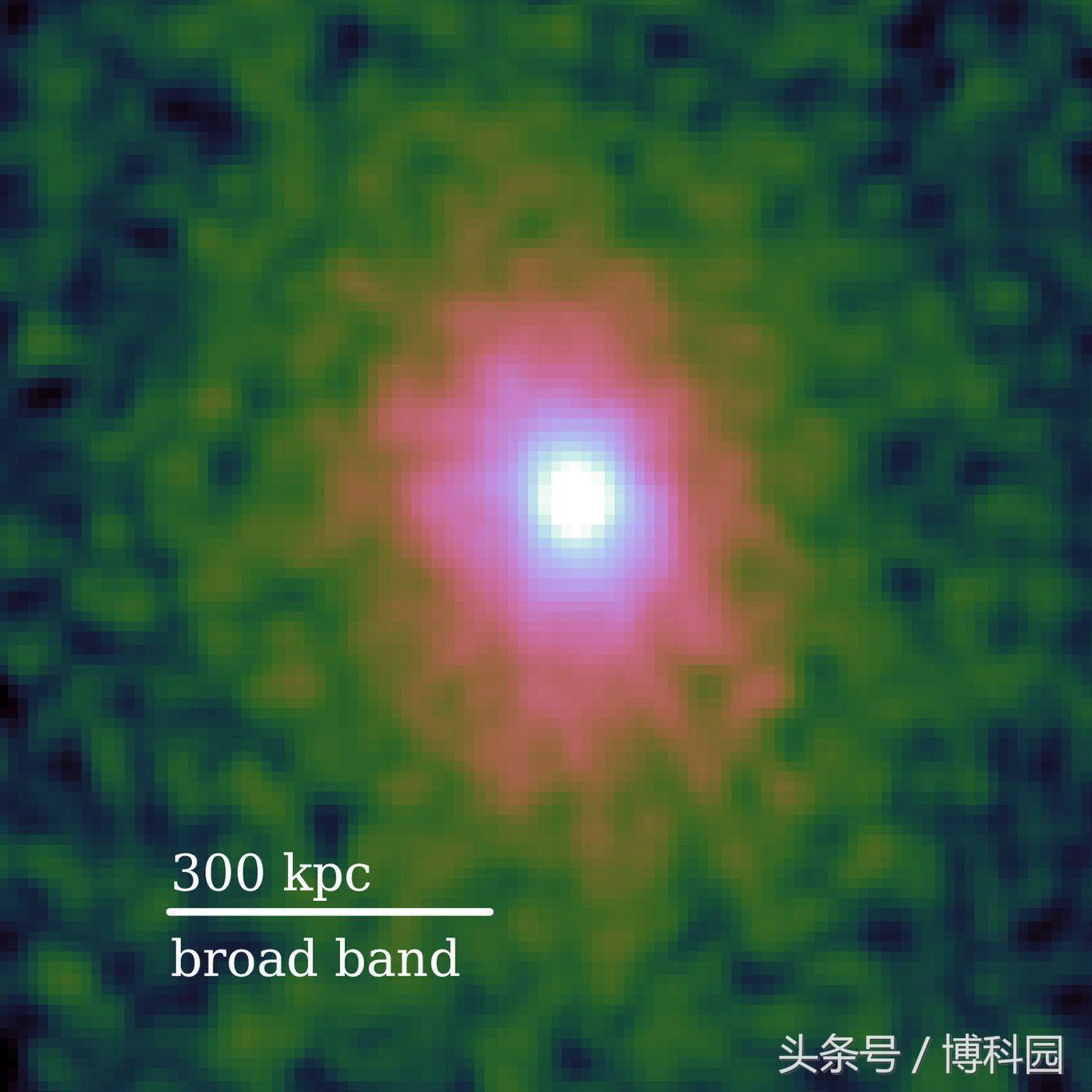 首次发现巨大星系团隐藏在显而易见的地方