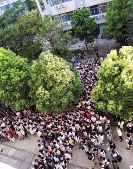 考研学生通宵排队抢占唯一带空调自习室,安徽一高校:学风好