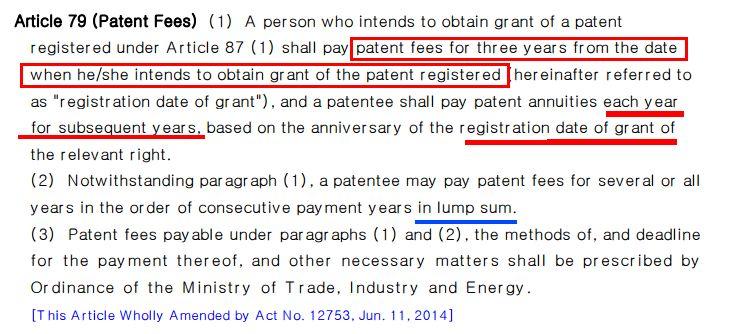 「韩国专利」申请授权及年费缴纳程序