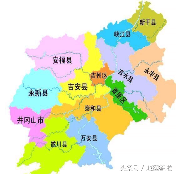 地理答啦:井冈山的地理位置在哪个省哪个市县?