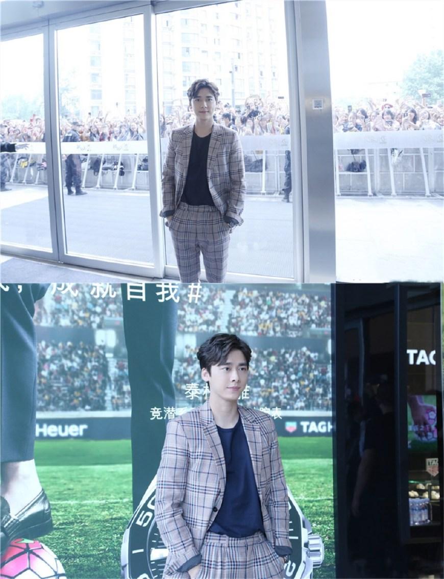 李易峰出席活动,虽穿肥大格纹西装,却难掩高贵儒雅的绅士气质!