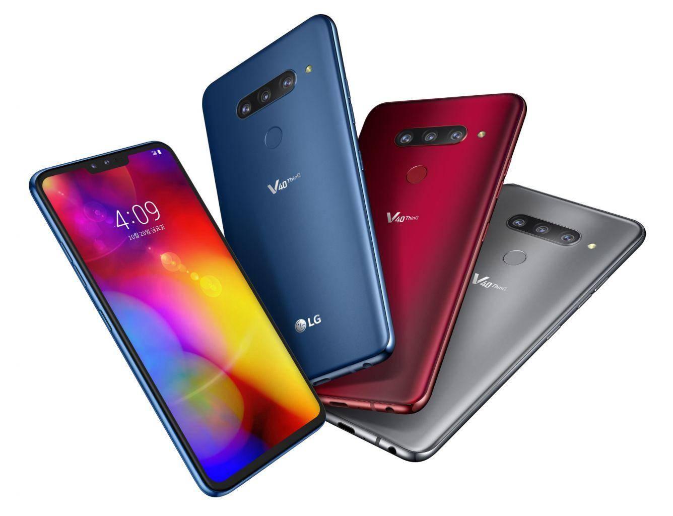 第一款五摄手机上LG V40ThinQ,选用P-OLED显示屏手机上,市场价6700中国人民币
