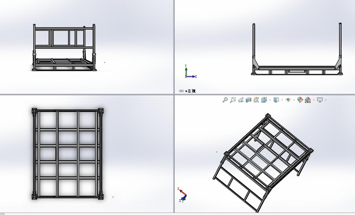 托盘式货架3D模型图纸 Solidworks设计