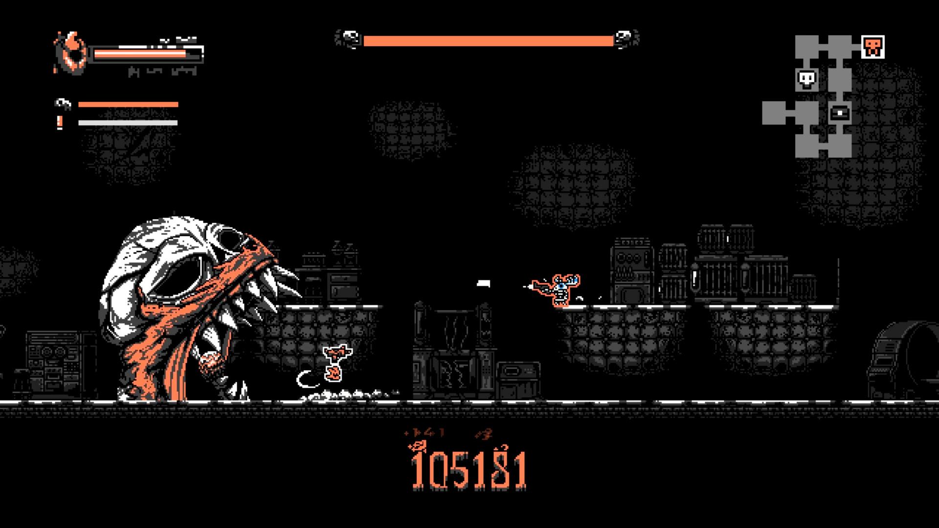 一款黑白画风的独特横版动作游戏