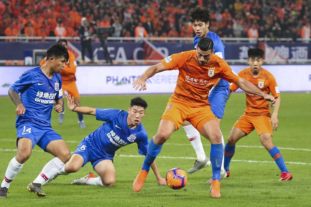 「中超A」深度解读:上海申花vs山东鲁能,鲁能共橙海浪之上