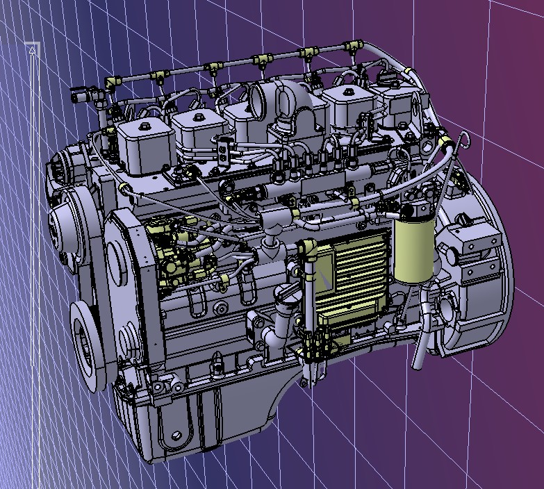 LMFO 0430柴油发动机3D数模图纸 STP格式