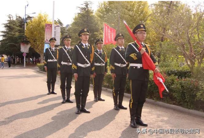 江苏响水县第二中学举行国旗升旗仪式常规活动