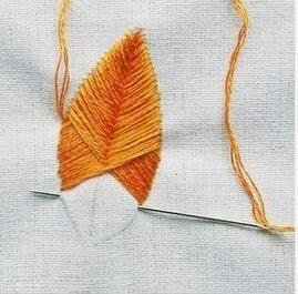 3种叶子的刺绣方法,针法分解,适合新手