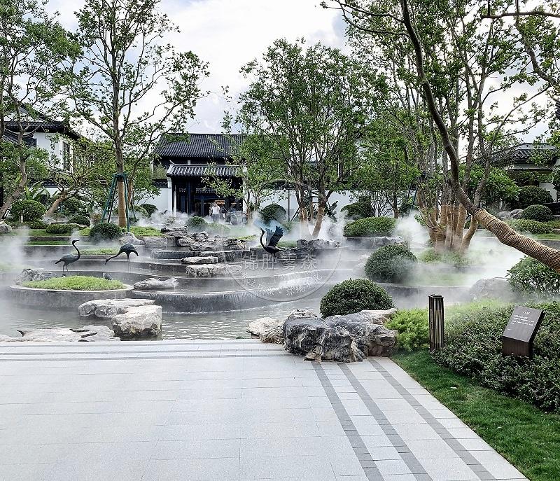 <锦胜雾森>售楼部景观设计,人造雾的艺术风采