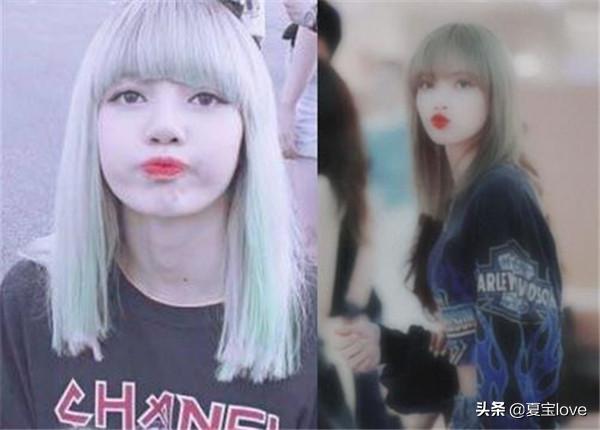 4位女星染绿发,程潇染绿发杨超越染绿发,看到她绿发:求同系