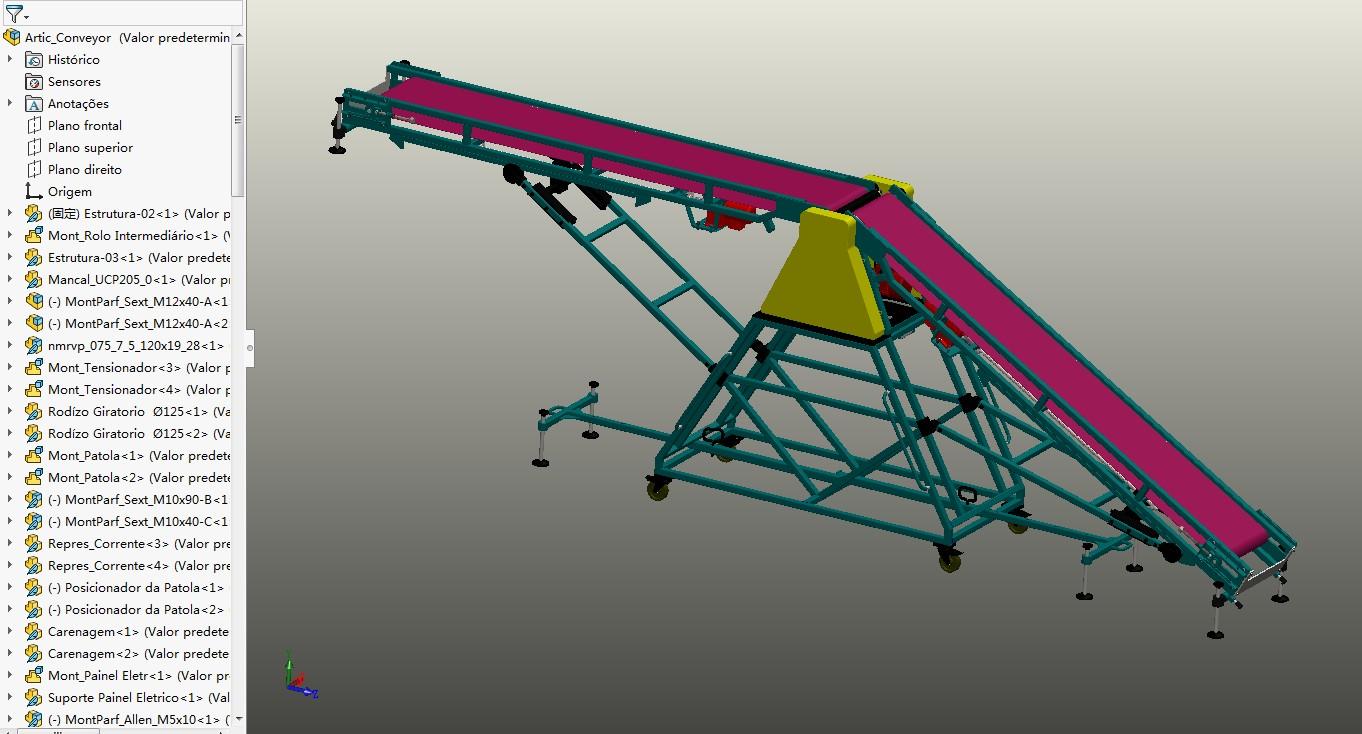 Artic关节式带式输送机3D数模图纸 Solidworks设计 附STEP格式
