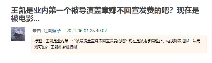 《真·三国无双》票房扑街,片方至少赔2亿,网友喊话王凯背锅