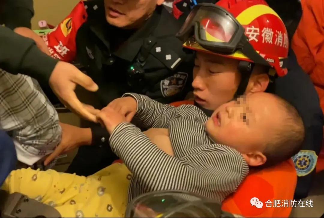 昨夜突发!合肥一2岁男孩从13楼掉下...