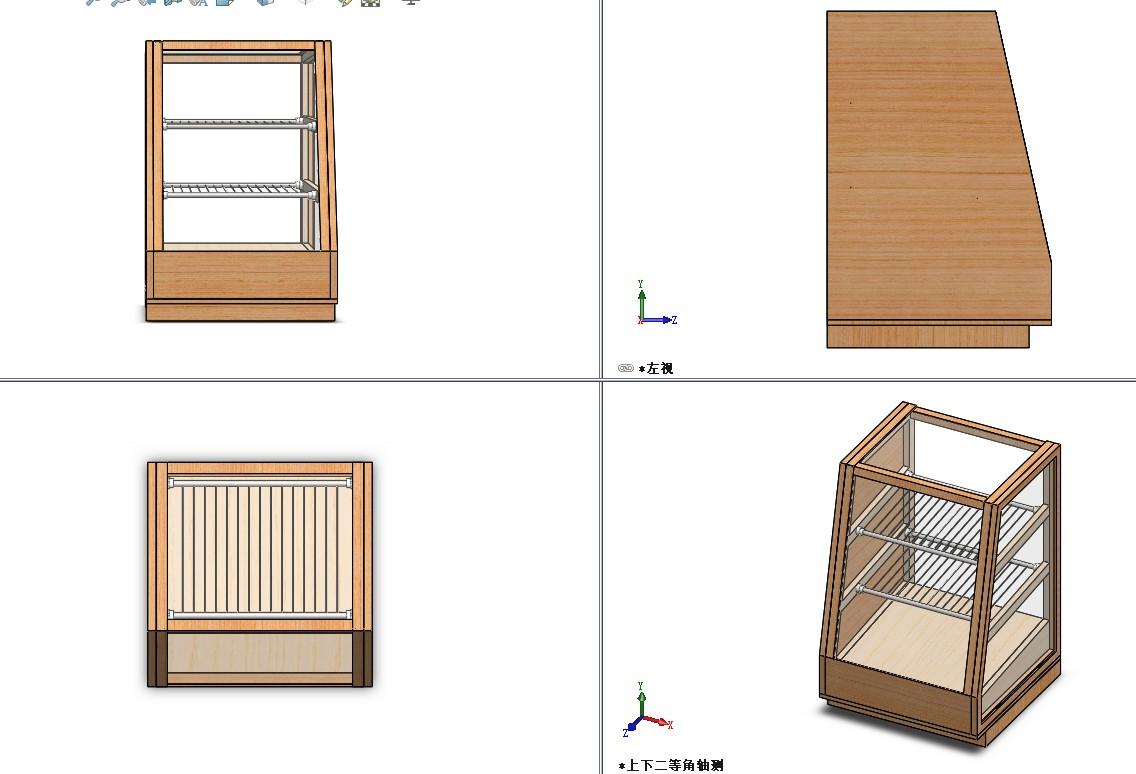 食品陈列柜模型3D图纸 Solidworks设计