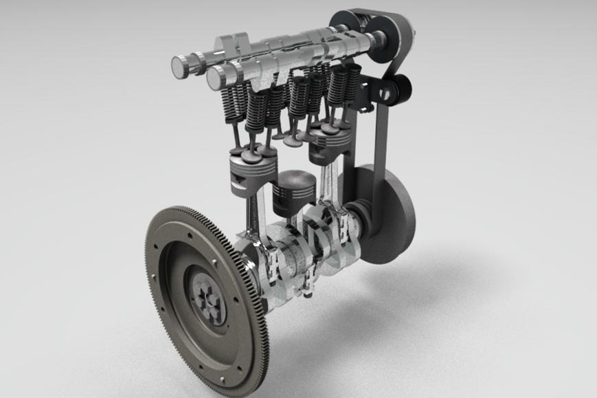 yt40-3缸柴油机模型3D图纸 STP格式