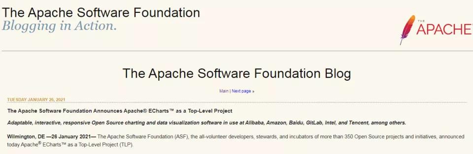 Apache ECharts顺利毕业,成为ASF顶级项目