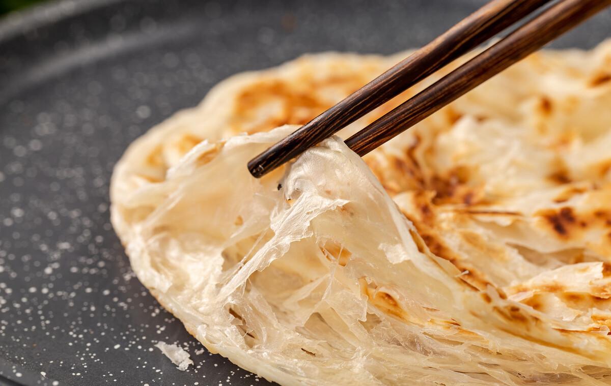 10分鐘就能出鍋的千層餅,不用燙麵,照著做保證不干不硬