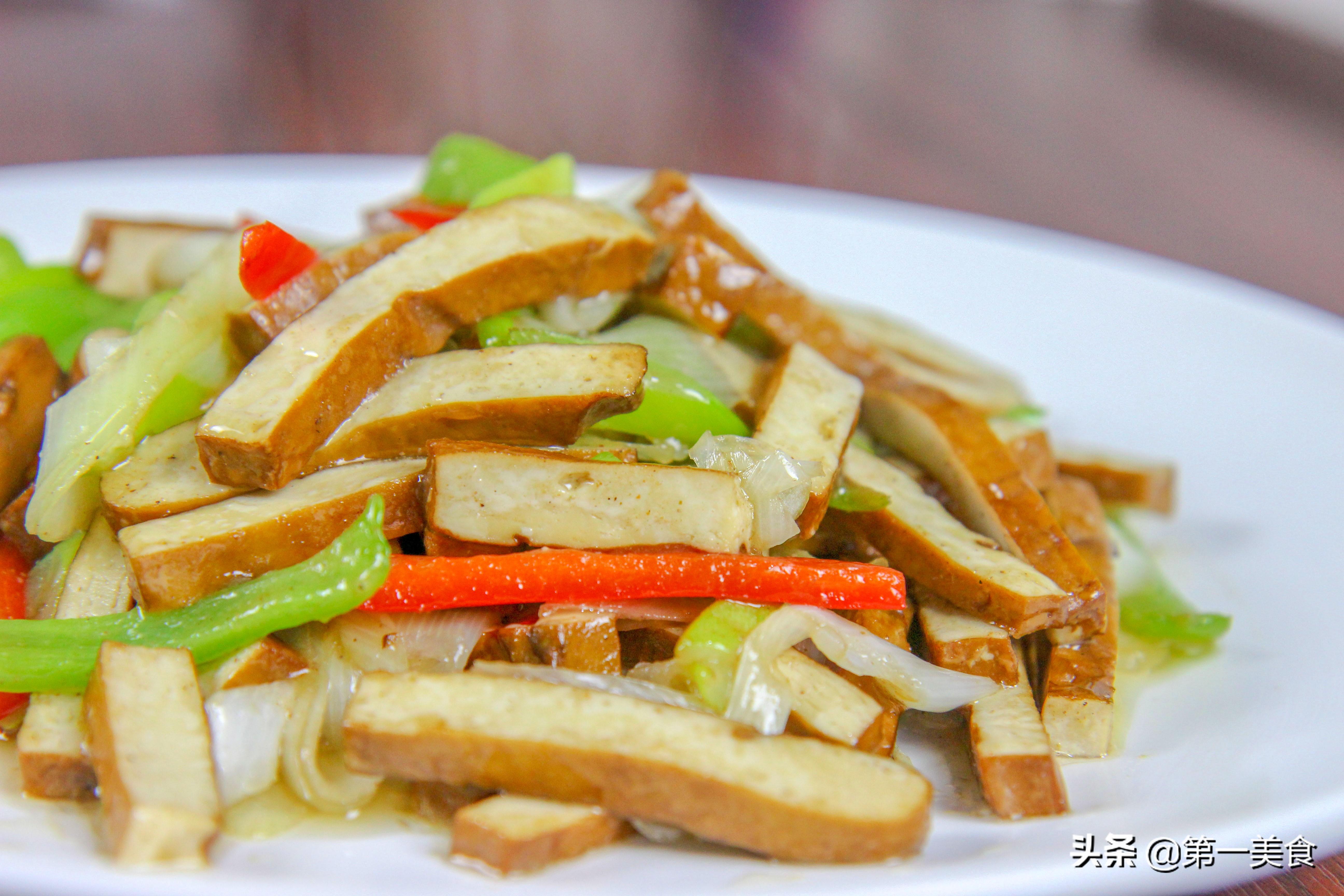 家常小菜大葱爆香干做法 葱香浓郁 香干入味 家人都说好吃