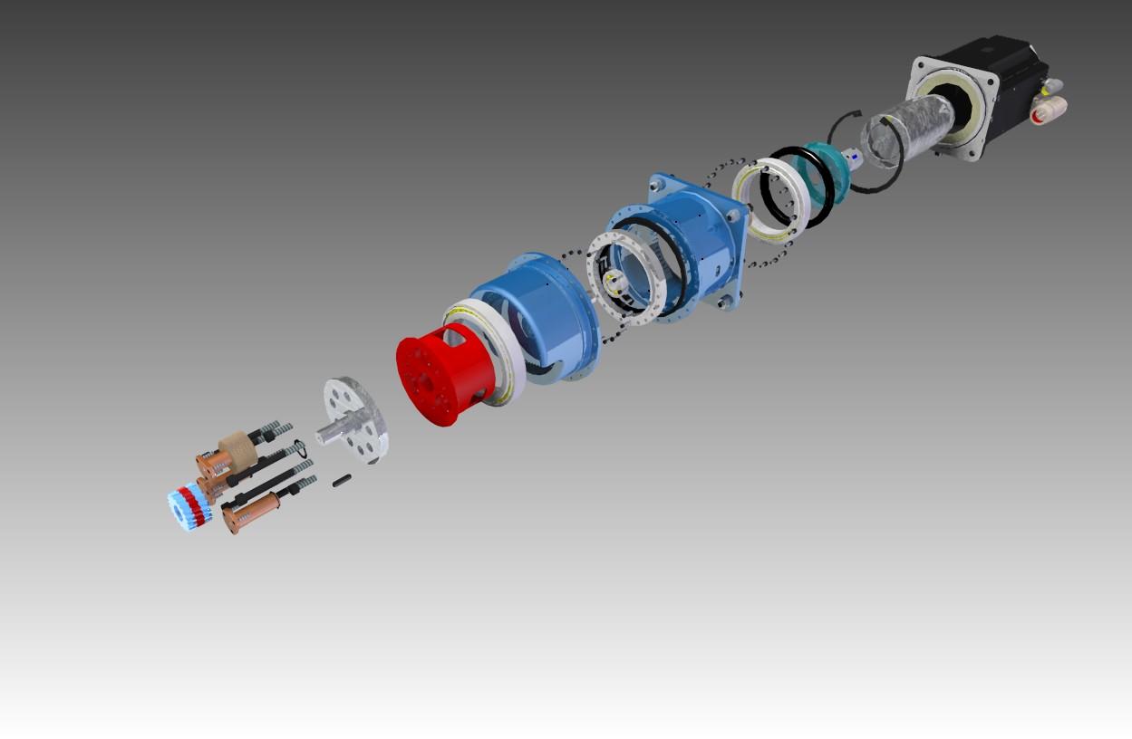 Anti BackLash 3-1减速器3D图纸 SolidEdge设计 附STP