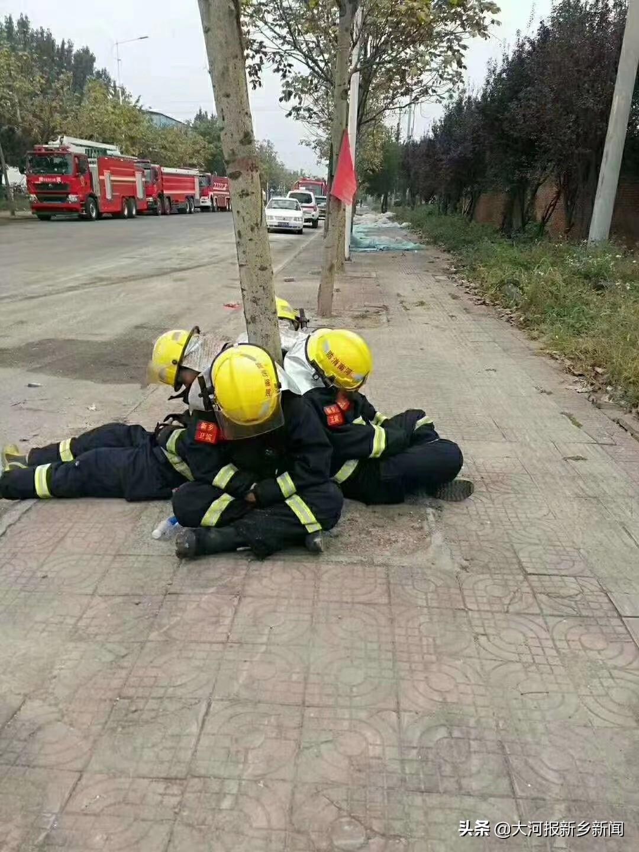 新鄉一工廠發生火災 附近村民被轉移