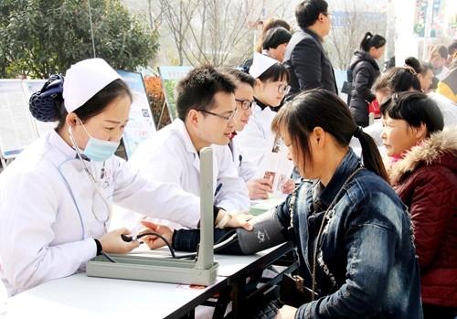 江苏滨海县陈涛中心卫生院一切以人民健康满意为出发点