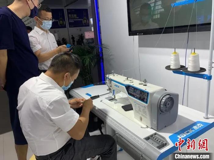 杰克数字化缝纫机亮相世界互联网大会