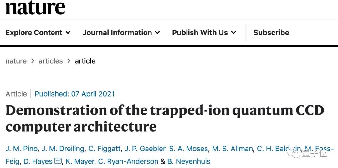 """""""口罩厂""""霍尼韦尔搞出的量子计算机,刚刚获得Nature认可"""