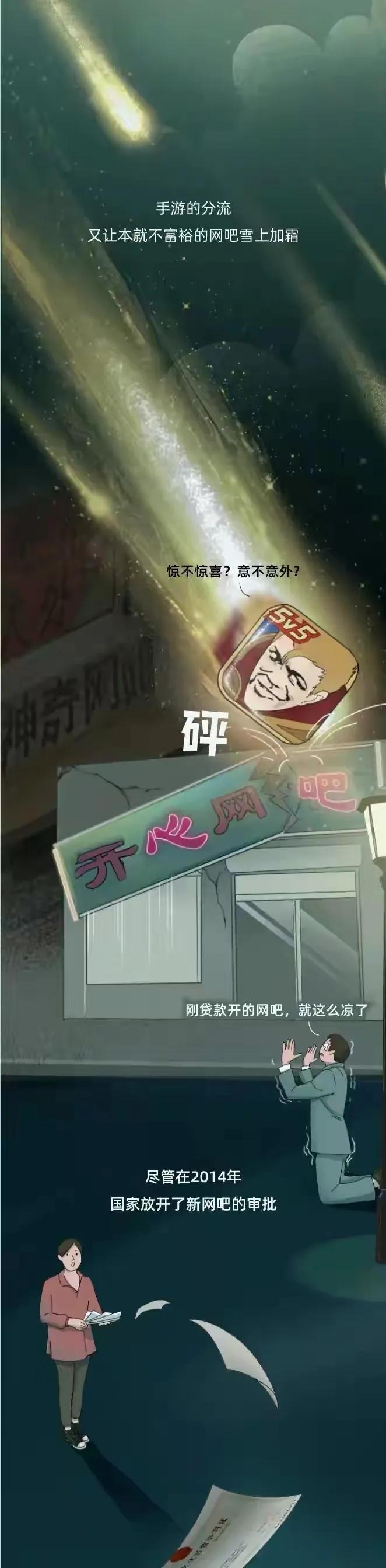 """中国网吧的""""兴衰史"""",只有去过网吧的人才能读懂(漫画)"""
