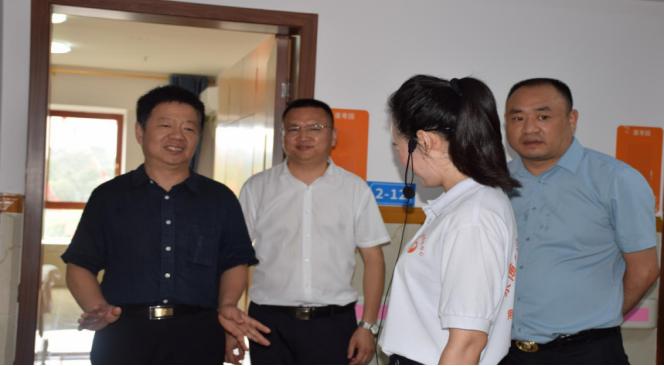 四川退役军人事务厅移交安置处处长陶明明一行到遂宁调研指导工作