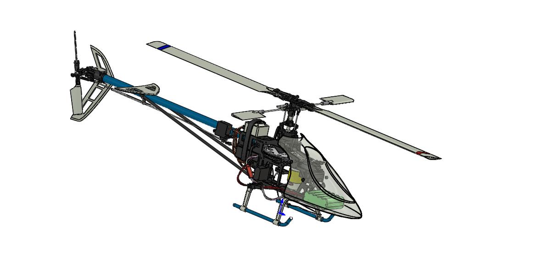 helico玩具直升机模型3D图纸 Solidworks设计