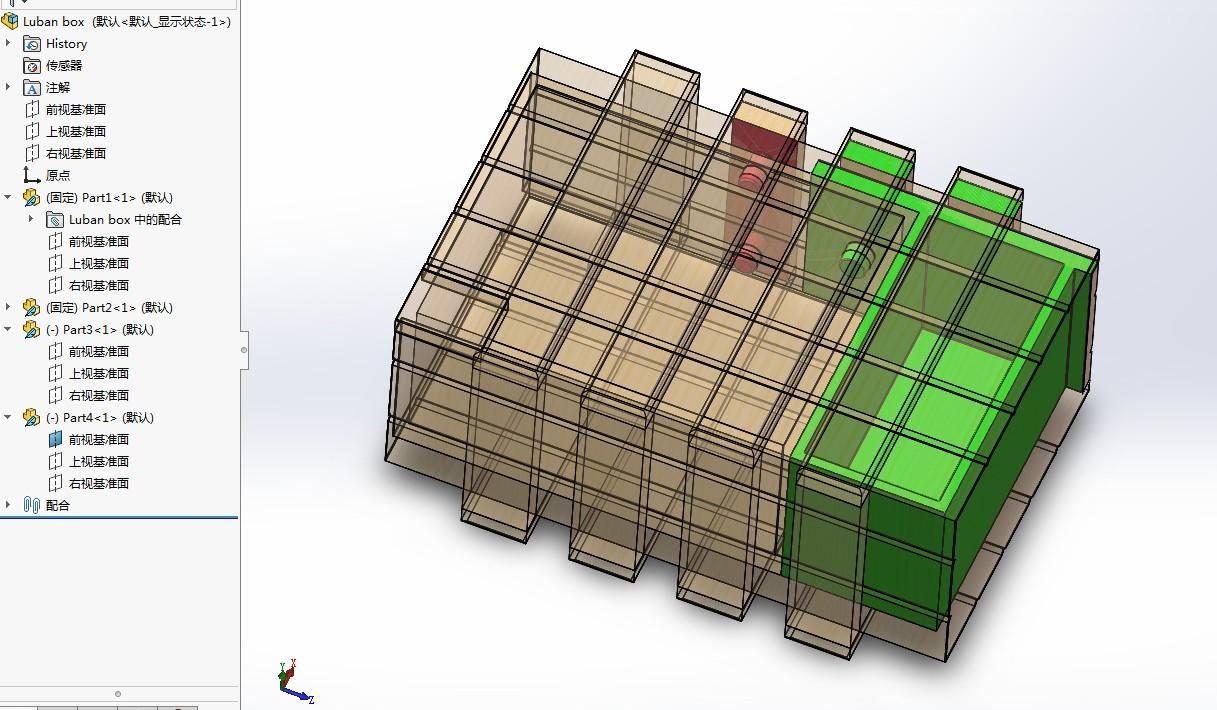 鲁班盒机关盒子3D数模图纸 Solidworks设计 附STL