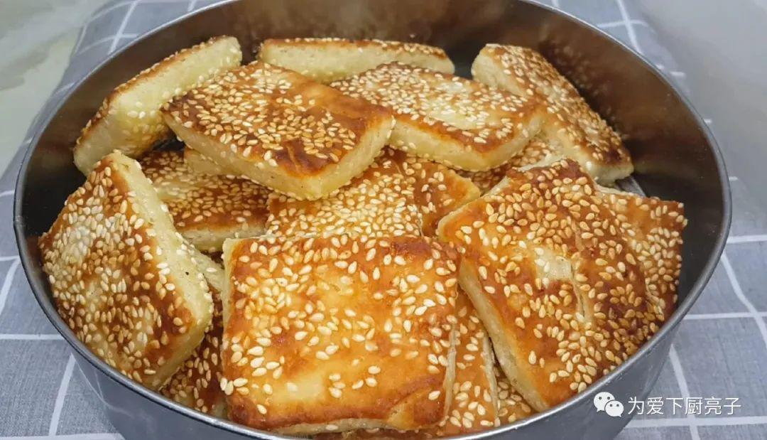 烧饼不要烙着吃了,刷上1层油酥 美食做法 第1张