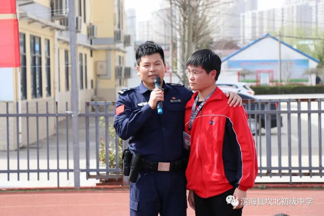 江苏滨海县坎北中学开展护蕾行动进校园 护航少年促成长活动