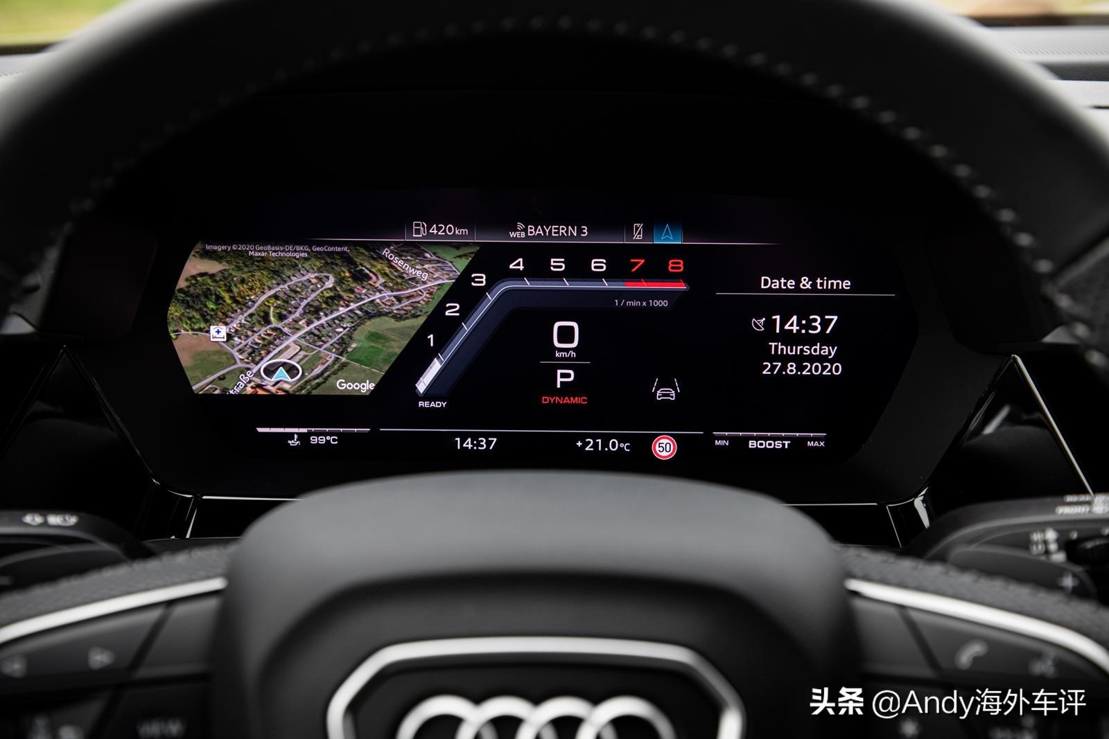 超过300马力,4.8秒破百,全新奥迪S3发布