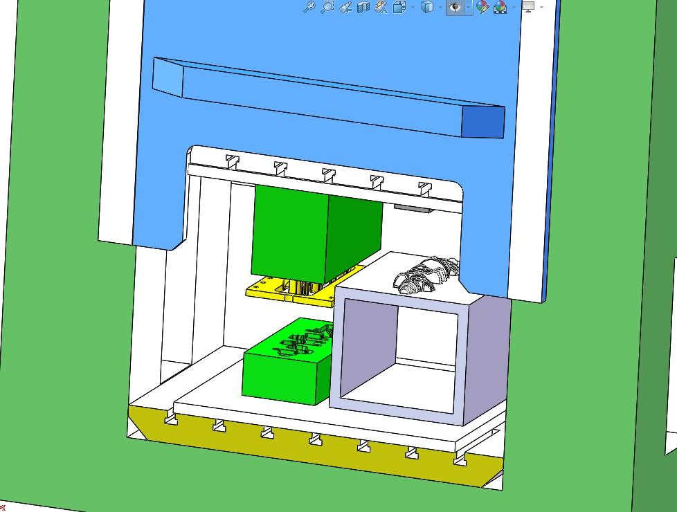 曲轴锻造剪切设备3D数模图纸 Solidworks设计