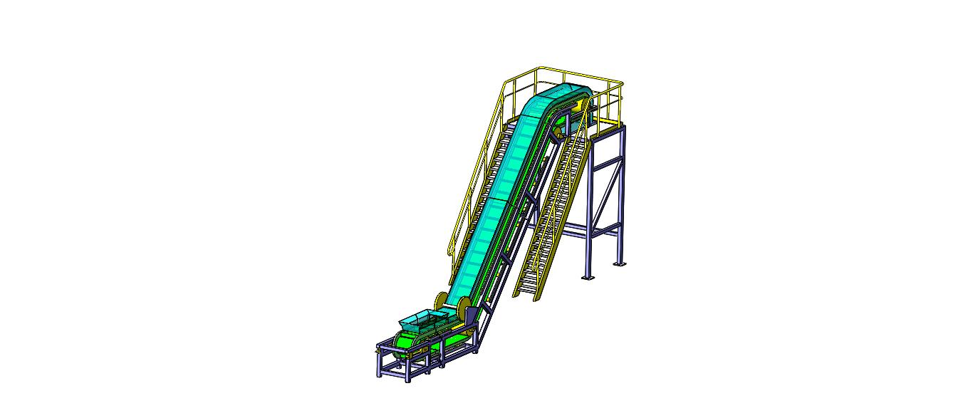Z-Type Z型带式输送机3D图纸 Solidworks设计 附x_t