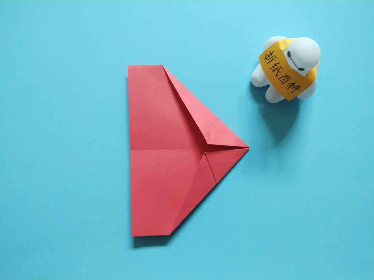 能飞得很远的折纸飞机,简单几步就做好,手工DIY折纸图解教程 家务妙招 第5张