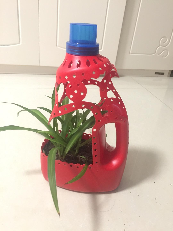 空洗衣液瓶子不要扔,只需几步就能变成漂亮的花盆 家务妙招 第11张