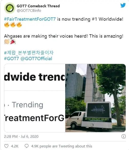 對JYP規劃不滿? TWICE粉絲公司門口抗議,盼訴求得到回應